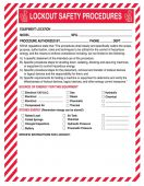 - Lockout Procedure Station: Lockout Safety Procedure Form
