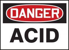 - OSHA Danger Safety Label: Acid
