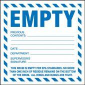- Hazardous Waste Label: Empty