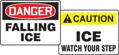 - OSHA Danger Quik Sign Fold-Ups®: Falling Ice